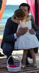 Harper hugs Uncle Jon