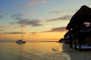 Sunset at Azul Beach