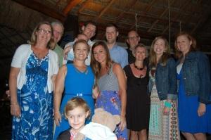 Jon´s family at Beach BBQ