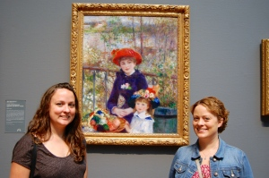 Ali and me in front of a picture by our favorite Impressionist painter, Renoir.
