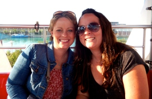 Me and sissy on the ferris wheel