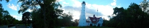 Panorama of Lake Park Light house