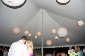 The only picture of the lanterns.  I LOVED them!