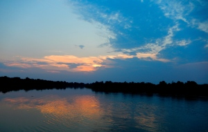Beautiful Sunset over the Paraguay River