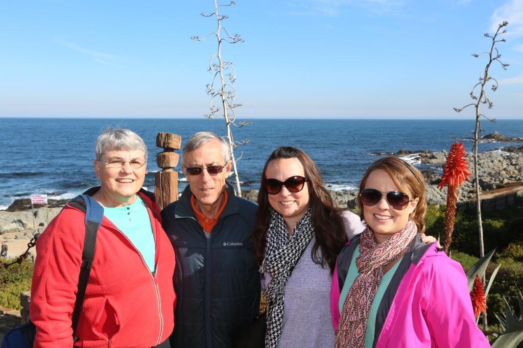La familia Timms at Isla Negra