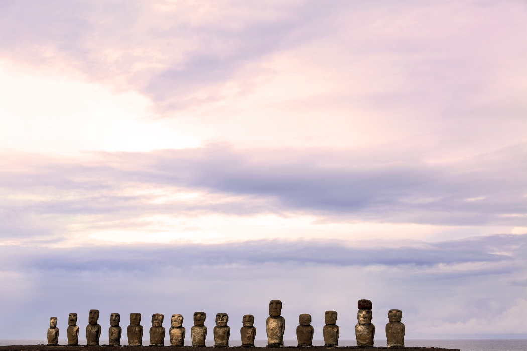 Moia statues at Ahu Tongariki: A great place to come for sunrise