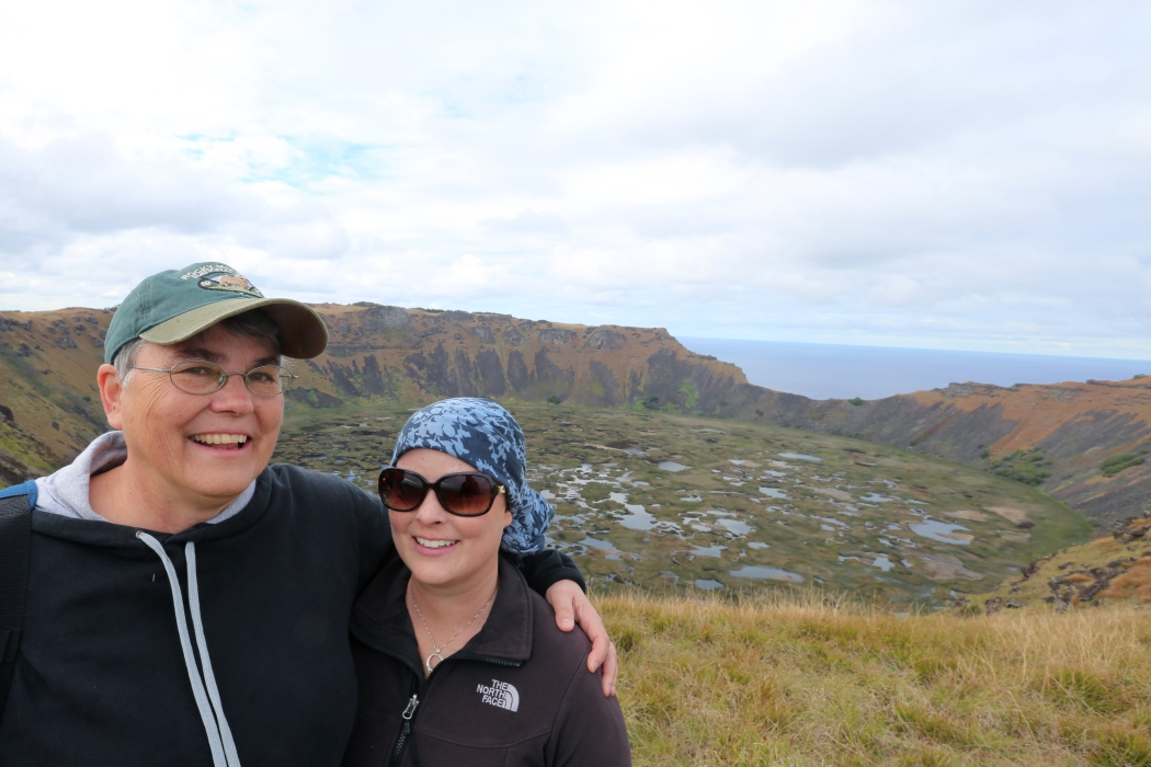 Me and my mom in front of the crater