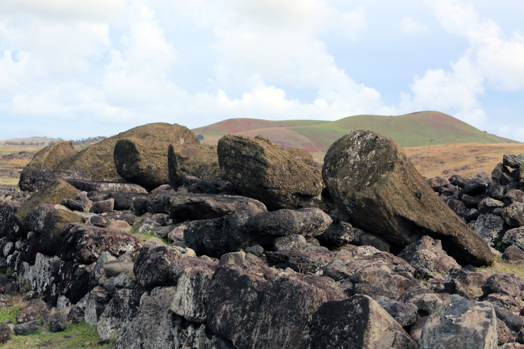 Ahu Te Pito Kura: the site of the largest moai ever erected.  Unfortunately it is face down