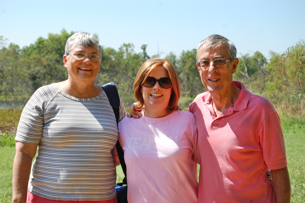 Me and my parents in Brazos Bend State Park