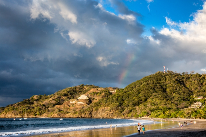 Playa Hermosa. Really: A rainbow too?